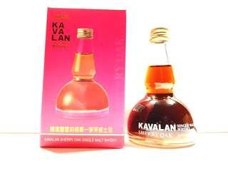 KAVALAN SHERRY OAK SINGLE MALT WHISKY 50ML POT STILL SHAPE MINIATURE