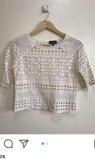 Topshop Crochet top s-m