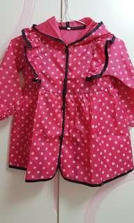 兒童波點雨衣