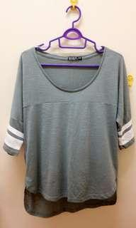 Cotton On Greyish Green Top (size fit to XL) #JAN55
