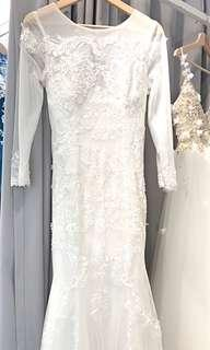 Mermaid Wedding Gown-one piece only