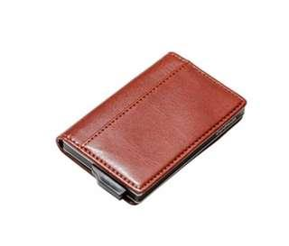 皮革銀包 保密Card holder