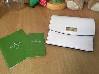 淡粉紅色Kate Spade短銀包 + card holder + 散紙包多合一銀包