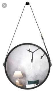 In stock! Round circle hanging mirror