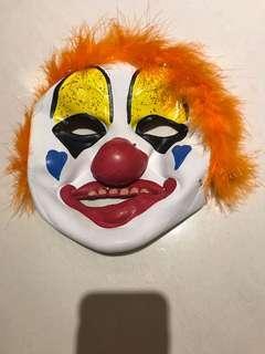🚚 萬聖節小丑面具 (aged 8-10)