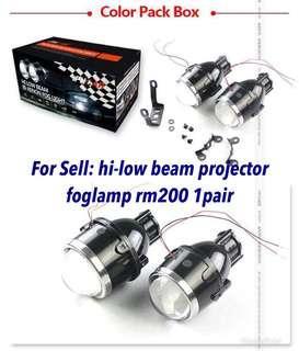 Hi-low beam projector foglamp