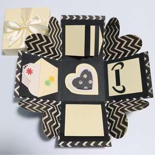 Black and Yellow Explosion Gift Box