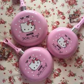 Original Maxim Hello Kitty Non-Stick Frying Pan Teflon PINK with Spatula