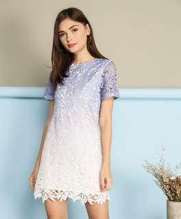 TSW Alessia Ombré Crochet Dress (Periwinkle)
