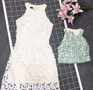 TSW Desiree Halter Dress (White)