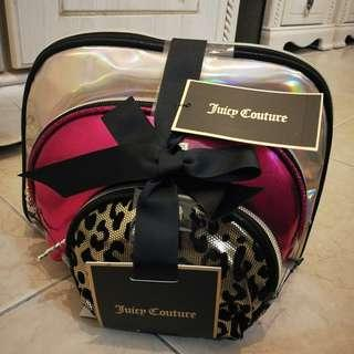 Juicy Couture Cosmetics Case Bag Set of 3