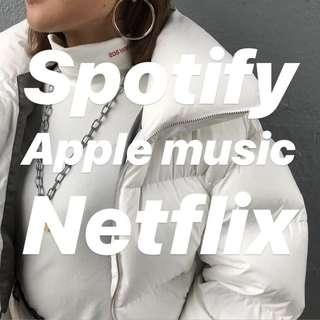 Spotify,Netflix,Apple Music LEGAL