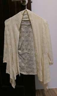 🚚 七分袖蕾絲外套