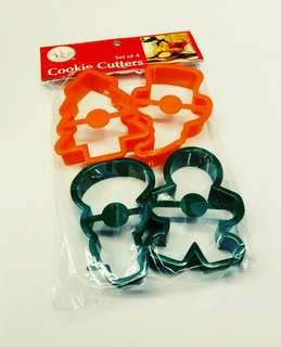 4 pieces Christmas Cookie Cutter Set