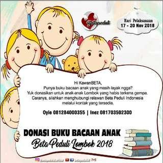 Yuk Donasi Buku Bacaan Anak