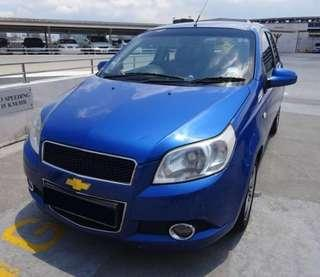 Last minute low priced Chevrolet Aveo 5 compact sedan short and Long term rental - mpv sedan jap conti available!