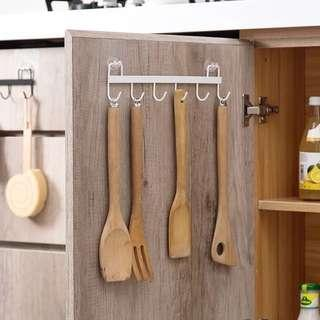 (白色現貨)六孔無痕掛鉤  置物架/桌面收納/浴室掛壁//廚房收納