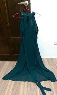 🚚 綠雪紡洋裝