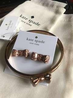 Brand new Kate Spade earring and bangle set