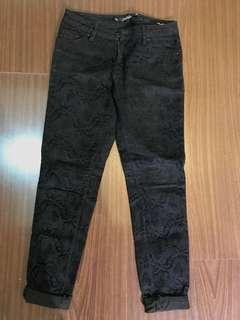 Zara pants stretch black brocade