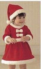 Santa clause costume baby kid girl Christmas