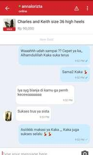 Testi Charles and Keith hels size 36