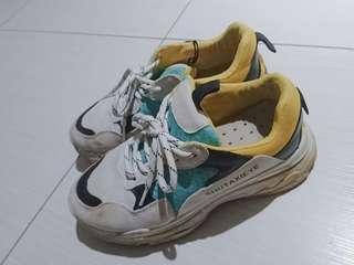 撞色復古慢跑鞋