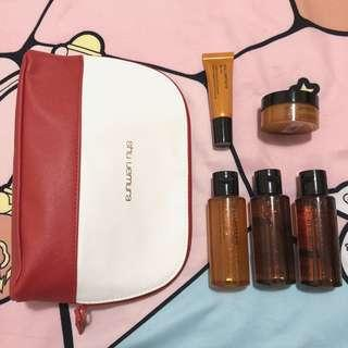 Shu Uemura 皇牌 琥珀 系列 Ultime 8 旅行裝 精華水 卸妝油 卸妝膏 化妝袋