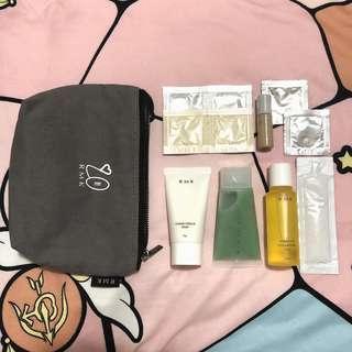 RMK 旅行裝 洗面膏 磨砂膏 皇牌粉底 化妝袋