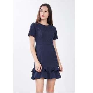 Ninth Collective Ryleigh Dress in Navy Blue Size Small