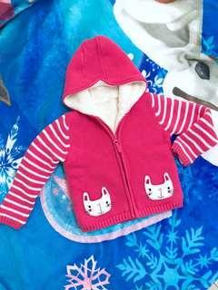 🚚 Mothercare 女童絨毛針織外套