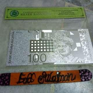 Silver banknote RM100