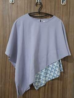 Baju atasan batik satin