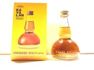 KAVALAN DISTILLERY RESERVE (PEATY OAK) SINGLE MALT WHISKY 50ML POT STILL SHAPE MINIATURE
