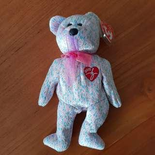 376c1cc0b2d GENUINE TY BEANIE BABY - 2001 Signature Bear  Hard to Find