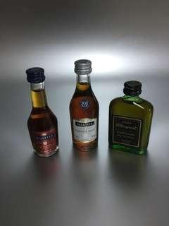 3 X Miniature Liquor