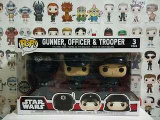 🚚 Funko Pop Star Wars Gunner Officer & Trooper 3 Pack Vinyl Figure Collectible Toy Gift Movie