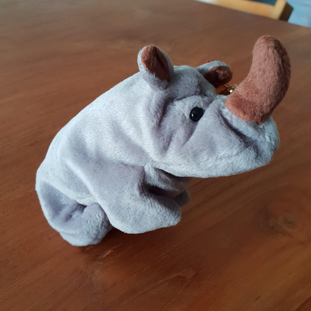 f129ee0424c 2 left. GENUINE TY BEANIE BABY - Spike The Rhino. Brand new. Mint ...