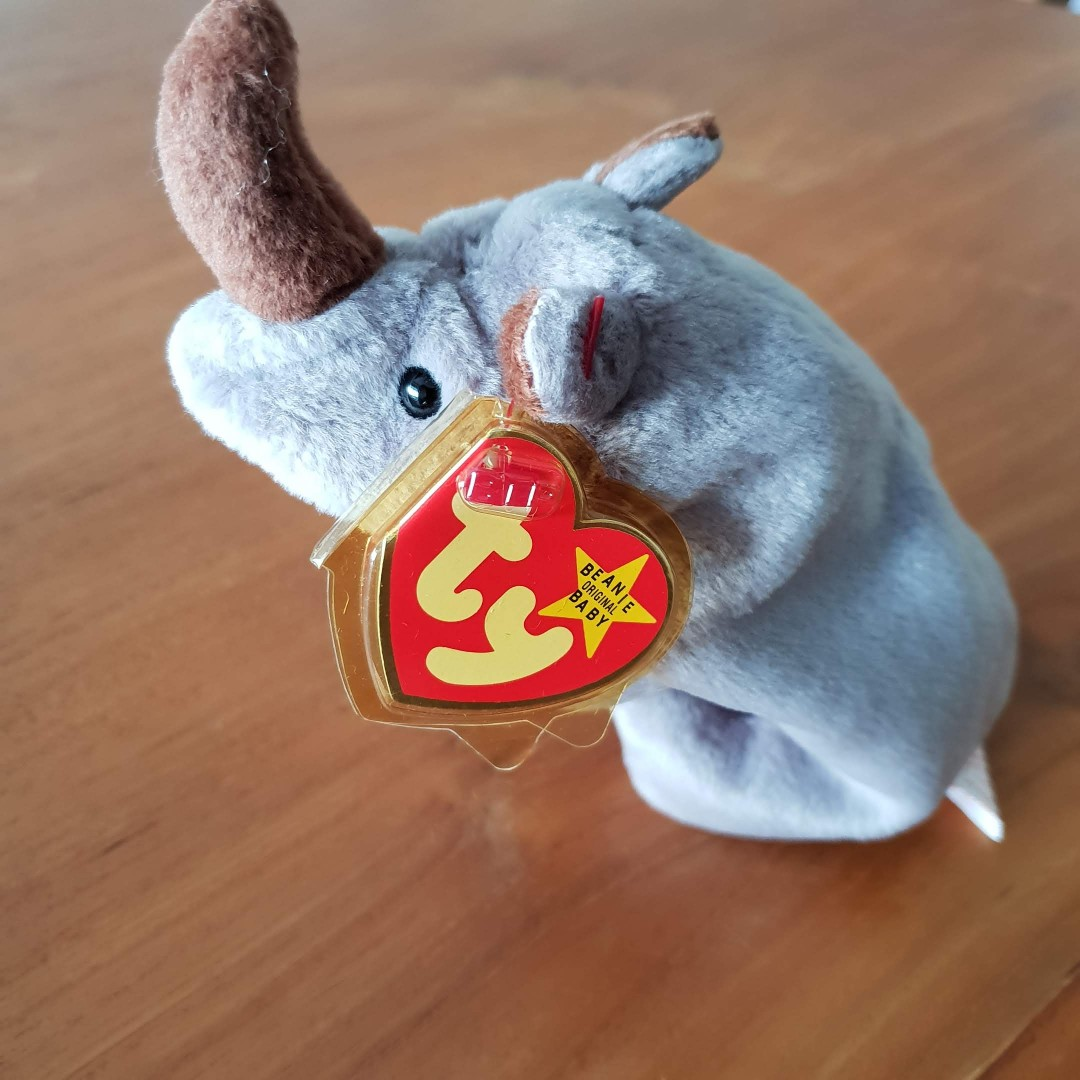 c08ef97cbc3 2 left. GENUINE TY BEANIE BABY - Spike The Rhino. Brand new. Mint Tags.  STOCK CLEARANCE