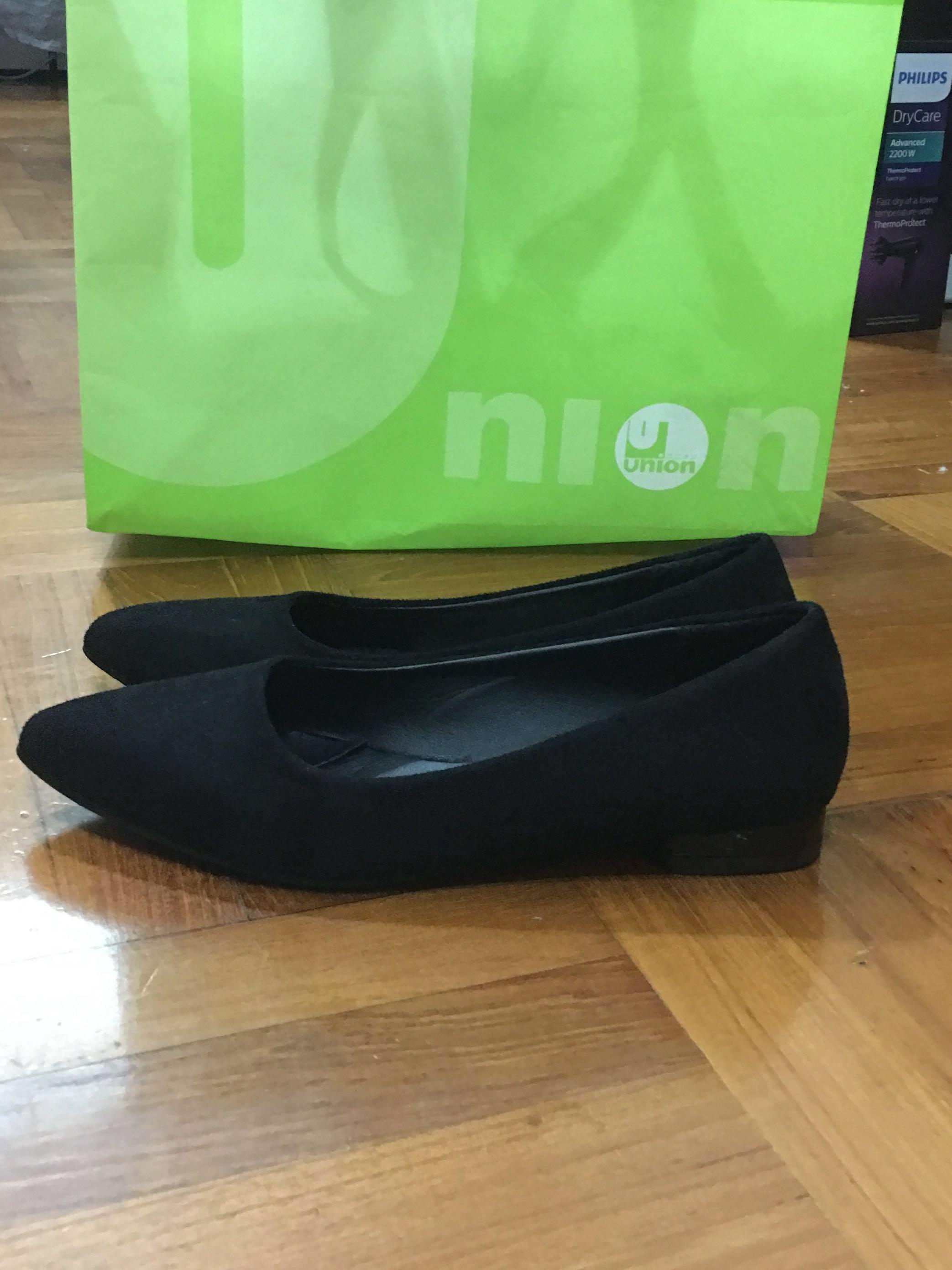 女裝黑色平底鞋 (上班/外出)
