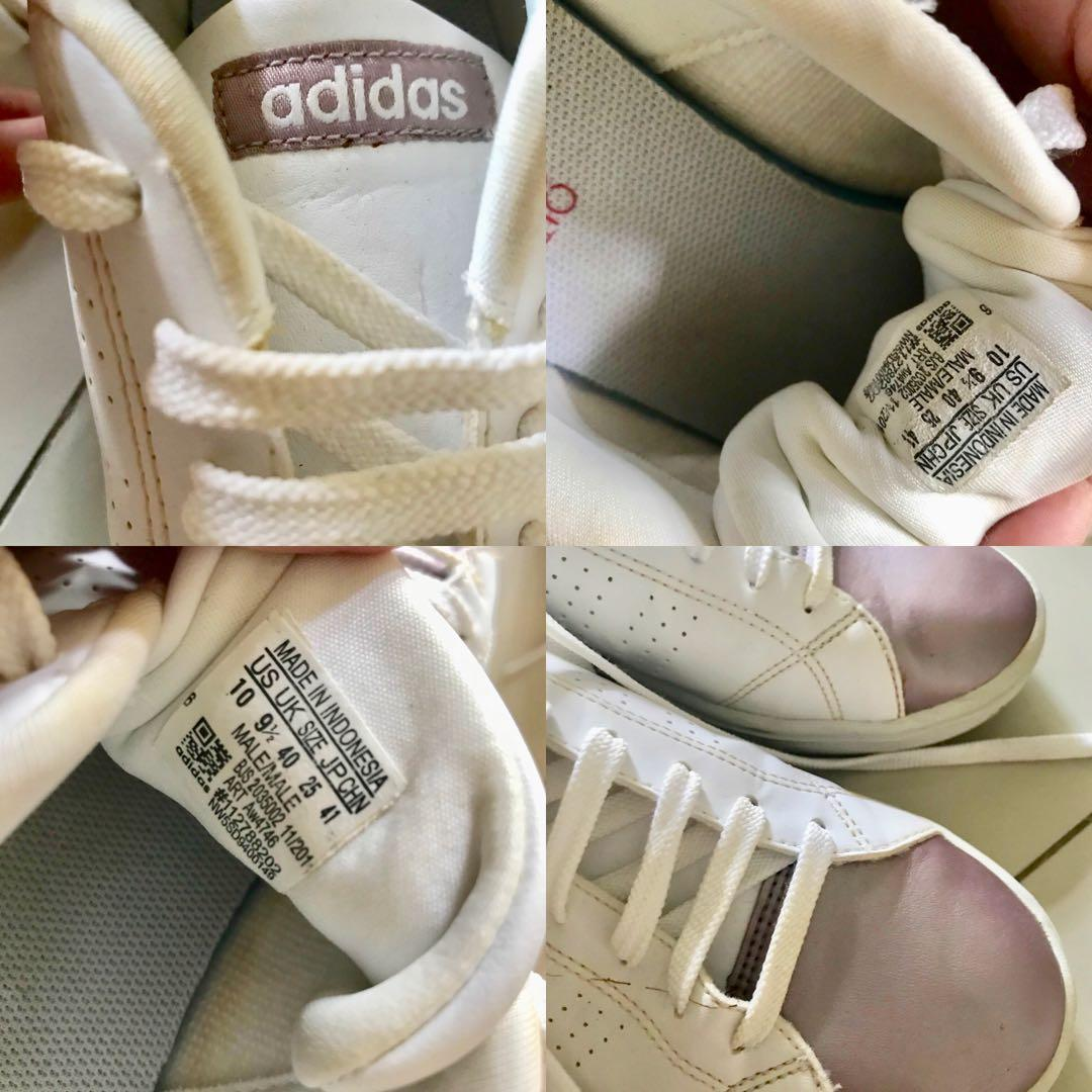 adidas neo advantage clean rose gold