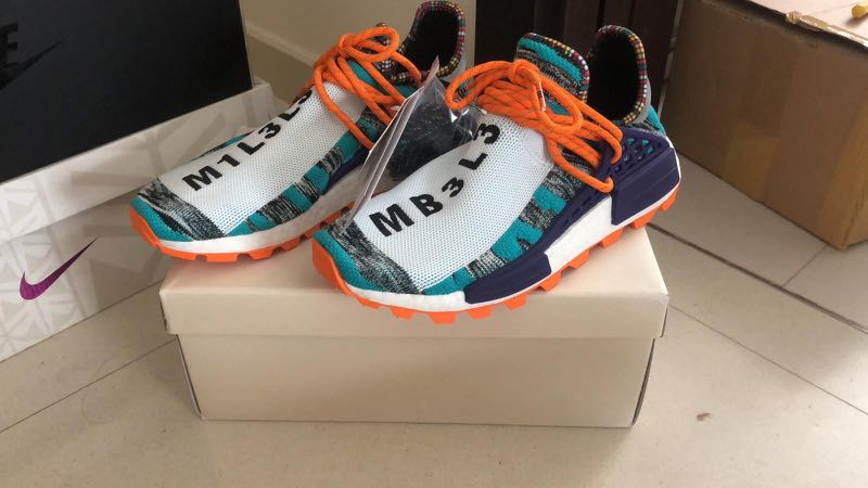 Adidas Nmd Human Race Solar Pack Aqua Men S Fashion Footwear