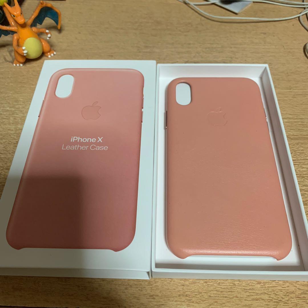 best service c60a6 c4d91 Apple IPhone X Pink leather case