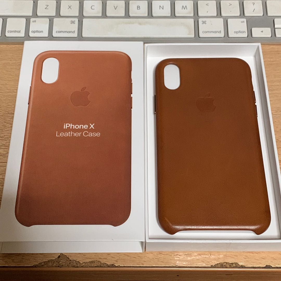finest selection 4a55f cba34 Apple iPhone X Saddle Brown Leather Case