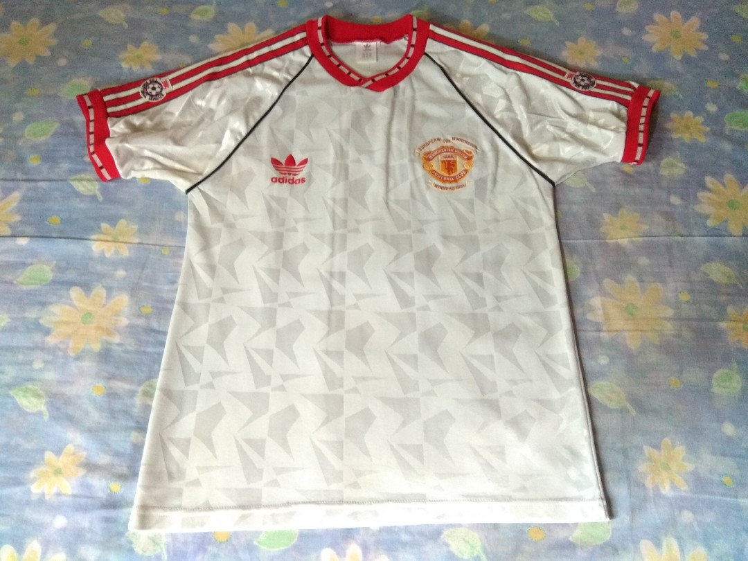 c156780f5a6 Authentic Manchester United Adidas 1991 Away Retro Football Jersey ...