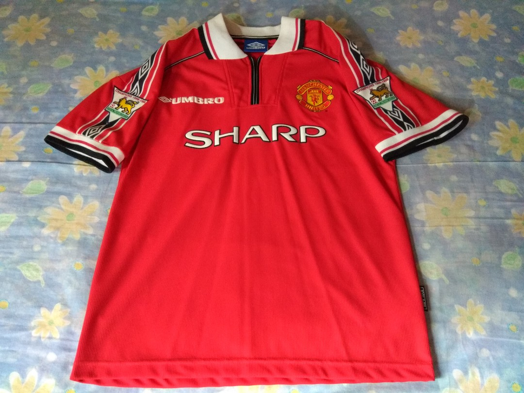 ad29aa269 Authentic Manchester United Umbro 1998 Home Retro Football Jersey ...