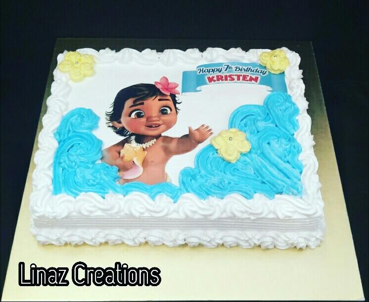 Baby Moana Birthday Cake Need A Customised Cake Contact