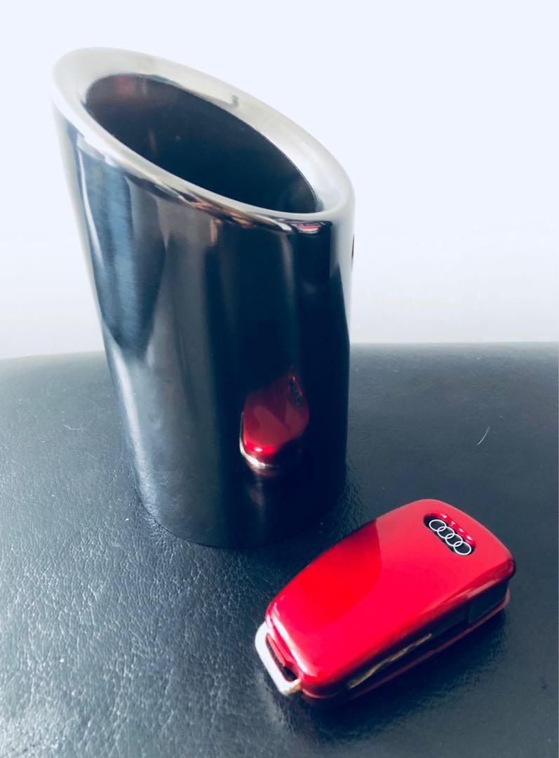 Black chrome exhaust tip ( Audi A3 Q2 VW MK6)