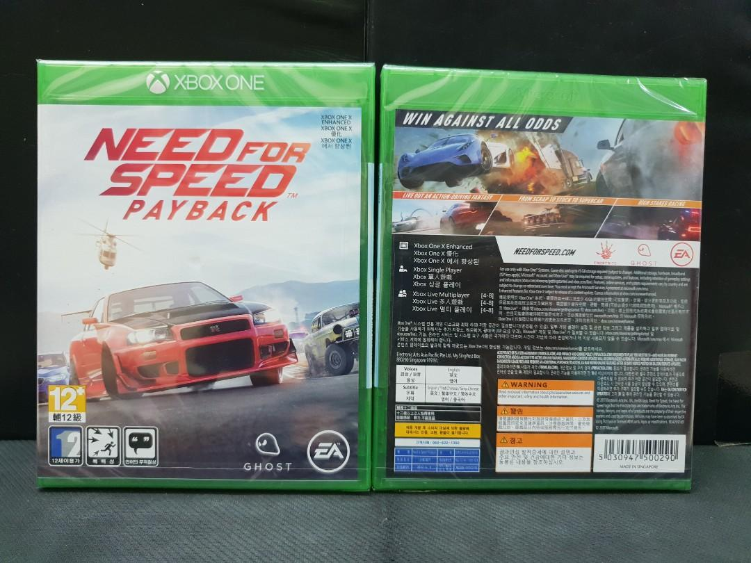 Bn Xbox One Need For Speed Payback Brand New Toys Games
