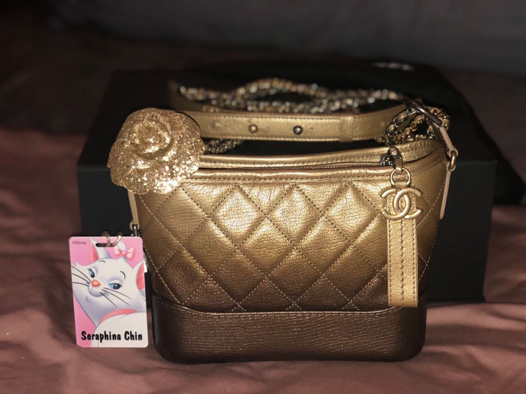 71917d04ea5584 Chanel Gabrielle hobo in small grained calfskin caviar ombré gradient gold  and bronze gold and silver hardware, Luxury, Bags & Wallets, ...